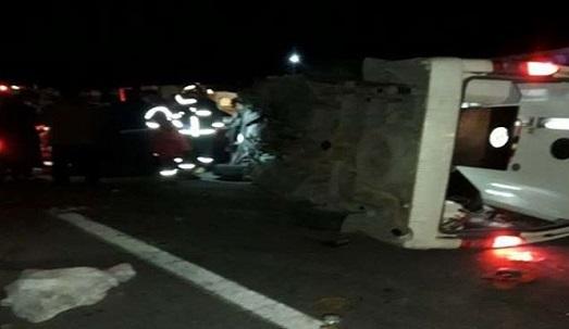 تصادف آمبولانس و سواری ال 90 در جاده خوی