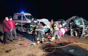تصادف وحشتناک در ارومیه ۴ کشته و یک زخمی بر جا گذاشت