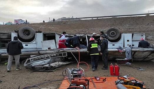 اتوبوس حامل خبرنگاران در آذربایجان غربی واژگون شد