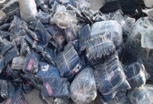 کشف البسه قاچاق از یک دستگاه کامیون درشهرستان خوی