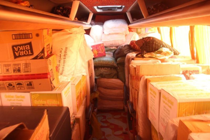 کشف ۴۰۰ میلیون ریال کالای قاچاق از یک دستگاه اتوبوس
