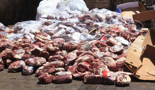 معدوم سازی گوشت و آلایش مرغی فاسد در تکاب